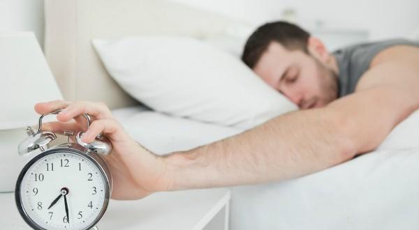 man waking up